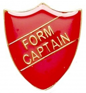 ShieldBadge Form Captain Red 22 x 25mm