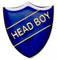 ShieldBadge Head Boy Blue 22 x 25mm