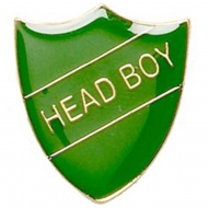 ShieldBadge Head Boy Green 22 x 25mm