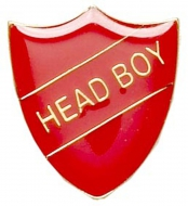 ShieldBadge Head Boy Red 22 x 25mm