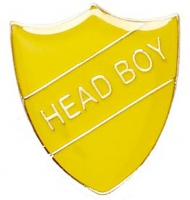 ShieldBadge Head Boy Yellow 22 x 25mm