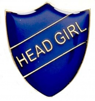 ShieldBadge Head Girl Blue Blue 22 x 25mm