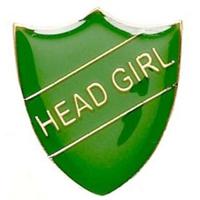 ShieldBadge Head Girl Green 22 x 25mm