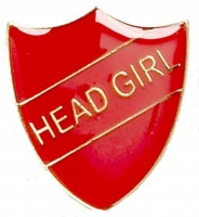 ShieldBadge Head Girl Red 22 x 25mm