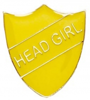 ShieldBadge Head Girl Yellow 22 x 25mm