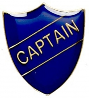 ShieldBadge Captain Blue Blue 22 x 25mm