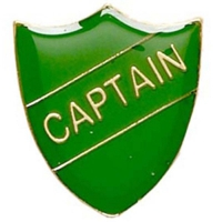 ShieldBadge Captain Green Green 22 x 25mm