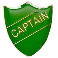 ShieldBadge Captain Green 22 x 25mm