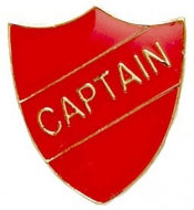 ShieldBadge Captain Red 22 x 25mm