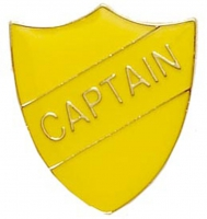 ShieldBadge Captain Yellow 22 x 25mm