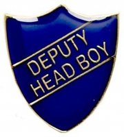 ShieldBadge Deputy Head Boy Blue Blue 22 x 25mm