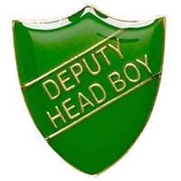 ShieldBadge Deputy Head Boy Green 22 x 25mm