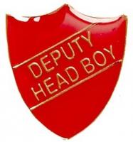 ShieldBadge Deputy Head Boy Red 22 x 25mm