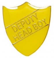 ShieldBadge Deputy Head Boy Yellow 22 x 25mm