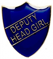 ShieldBadge Deputy Head Girl Blue Blue 22 x 25mm