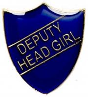 ShieldBadge Deputy Head Girl Blue 22 x 25mm