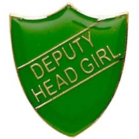 ShieldBadge Deputy Head Girl Green Green 22 x 25mm