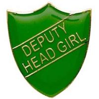 ShieldBadge Deputy Head Girl Green 22 x 25mm