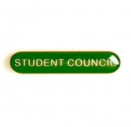 BarBadge Student Council Green Green 40 x 8mm