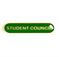 BarBadge Student Council Green 40 x 8mm