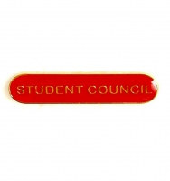 BarBadge Student Council Red Red 40 x 8mm