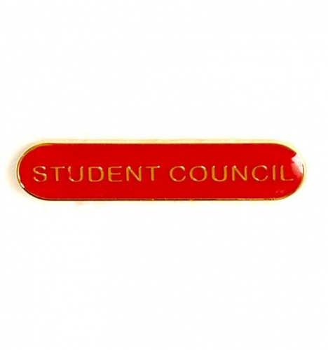 BarBadge Student Council Red 40 x 8mm