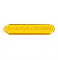 BarBadge Student Council Yellow Yellow 40 x 8mm