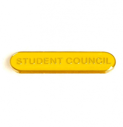 BarBadge Student Council Yellow 40 x 8mm
