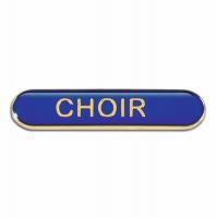 BarBadge Choir Blue 40 x 8mm