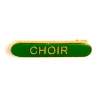 BarBadge Choir Green 40 x 8mm