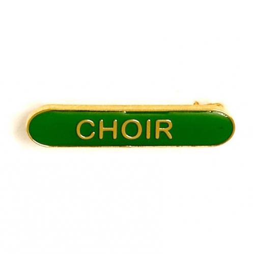 BarBadge Choir Green Green 40 x 8mm