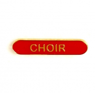 BarBadge Choir Red Red 40 x 8mm