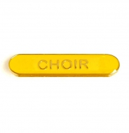 BarBadge Choir Yellow Yellow 40 x 8mm
