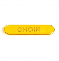BarBadge Choir Yellow 40 x 8mm