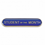 BarBadge Student Of The Month Blue Blue 40 x 8mm