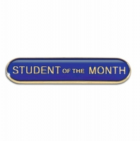 BarBadge Student Of The Month Blue 40 x 8mm