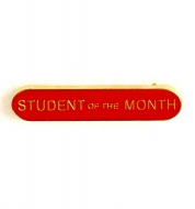BarBadge Student Of The Month Red Red 40 x 8mm