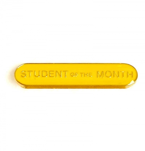 BarBadge Student Of The Month Yellow 40 x 8mm