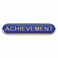 BarBadge Achievement Blue Blue 40 x 8mm