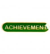 BarBadge Achievement Green Green 40 x 8mm