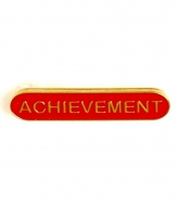 BarBadge Achievement Red Red 40 x 8mm