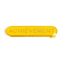 BarBadge Achievement Yellow 40 x 8mm