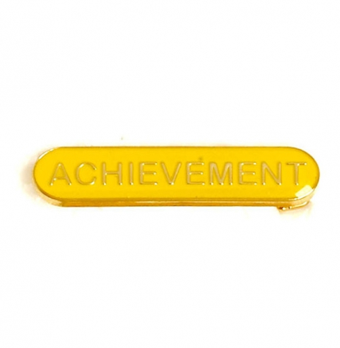 BarBadge Achievement Yellow Yellow 40 x 8mm