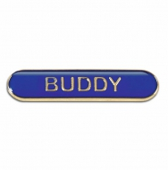 BarBadge Buddy Blue Blue 40 x 8mm