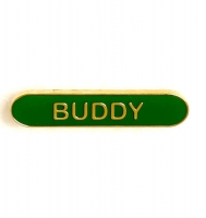 BarBadge Buddy Green Green 40 x 8mm