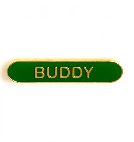 BarBadge Buddy Green 40 x 8mm