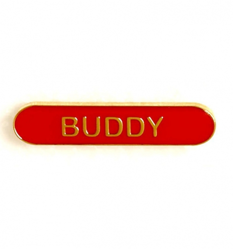 BarBadge Buddy Red Red 40 x 8mm