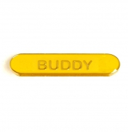 BarBadge Buddy Yellow Yellow 40 x 8mm