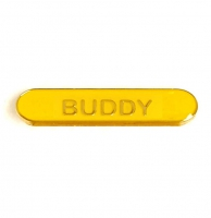 BarBadge Buddy Yellow 40 x 8mm