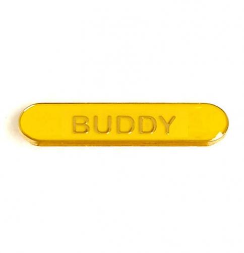 BarBadge Buddy Yellow 40 x 8mm